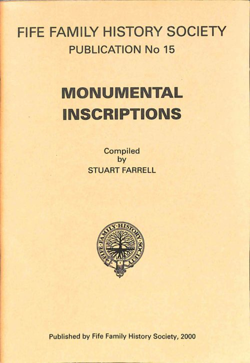 Publication No 15, Monumental Inscriptions
