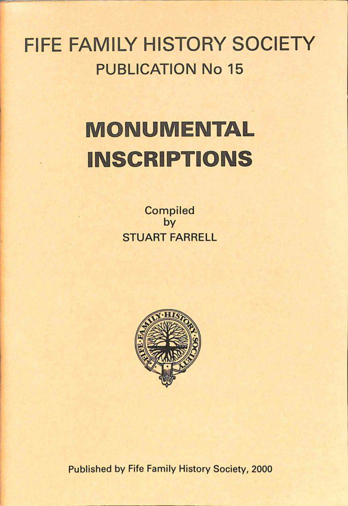 Publication No 15, Monumental Inscriptions