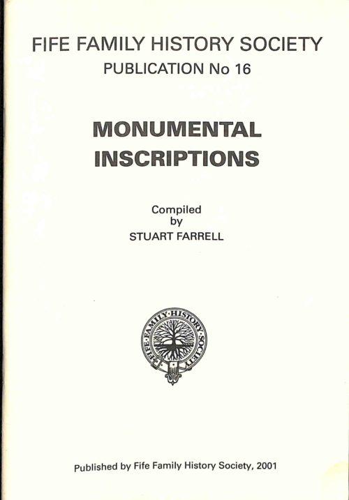 Publication No 16, Monumental Inscriptions