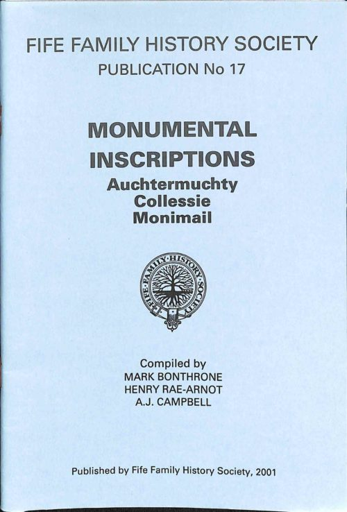 Publication No 17, Monumental Inscriptions, Contents