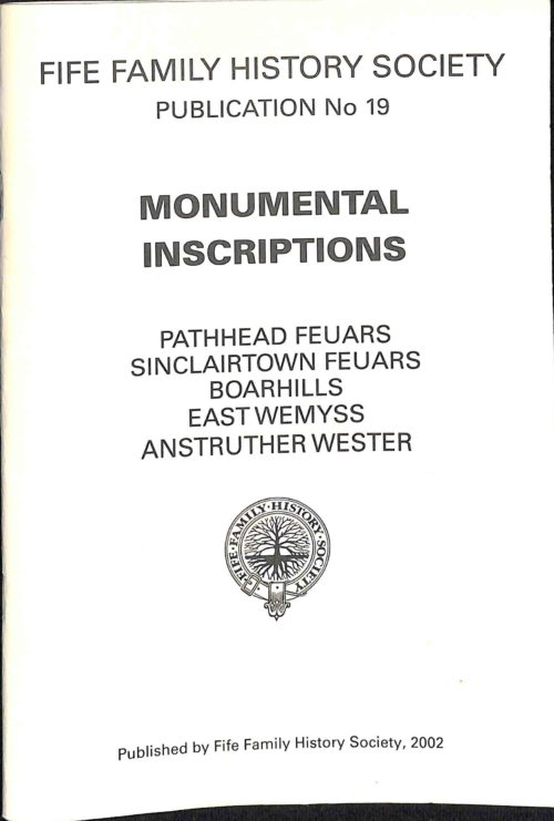 Publication No 19, Monumental Inscriptions